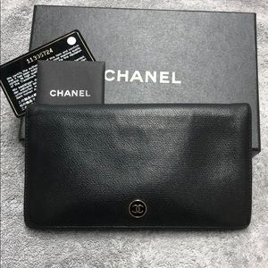 Chanel continental wallet